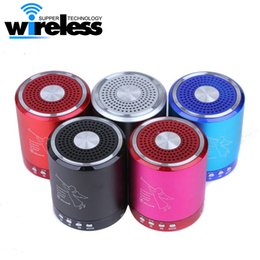 Wholesale Pink Portable Speaker - T2020A Portable Mini Bluetooth Speakers Metal Steel Wireless Smart Hands Free Speaker With FM Radio Support SD Card For iPhone