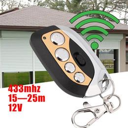 Wholesale Cloning Car Keys - Wholesale- 1pc 4 Buttons 433MHz Wireless Remote Control Universal Cloning Car Gate Garage Door Key Auto Keychain