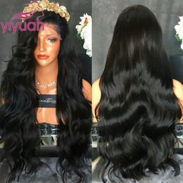 Wholesale High Quality Blonde Wigs - High Quality Natural Hairline Synthetic Lace Front Wig Black Wigs with Baby Hair Heat Resistant Body Wave Wigs For Black Women