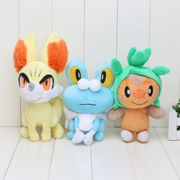 Wholesale Chespin Plush - 17-24cm Anime pikachu New XY Series Chespin Fennekin Froakie Plush Toys for gifts