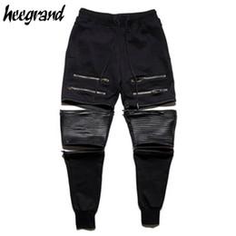 Wholesale Detachable Pants - Wholesale- HEE HRAND Men Casual Sweatpants 2017 New Fashion Hip Hop Detachable Men's Pants Solid Street Ankle-tied Zipper Pants MKX1171