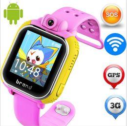 Wholesale Watch Gps Tracker Alarm - Wholesale- Original JM13 3G bady Smart Watch Camera GPS LBS WIFI Kids Wristwatch SOS Monitor Tracker Alarm For IOS Android smartwatch