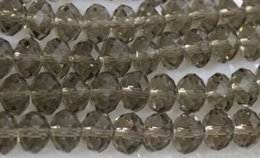 Wholesale White Iron Numbers - 1000PCS wholesale 4x6mm Iron Gray AB Swarovski Crystal Gemstone Loose white Beads bead
