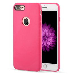 Wholesale Tpu Gel Candy Case - Candy Color Original Design Official Coque Slim Soft TPU Silicone Gel Case Cover Skin For iPhone 8 7 Plus 6 6S 5 5S Hole Free DHL