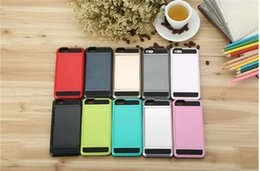Wholesale Cell Slides - for Apple iPhone 7 plus 6 6S Plus Cell Phone Case with Slid Card Holder Mobile Back Cover Shell Protector Shockproof