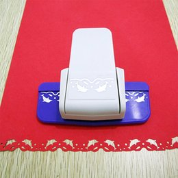 Wholesale Dolphin Cutter - Wholesale- Free ship New Fancy border hole punch dolphin design foam paper cutter lace craft puncher scrapbooking for DIY handmade crafts