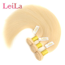Wholesale Brazilian Blonde Weft Weave - Brazilian Virgin Hair 3 Bundles Straight Hair Bundles Blonde Straight Human Hair Weave 613# Brazilian Bundles