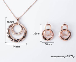 Wholesale Earring Variety - New Fashion Desgin high quality crystal diamond pendant necklace and earrings Sets a variety of styles for Women Jewelry Set Hot Selling