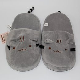 "Wholesale Kawaii Cartoon Slippers - New 2016 Cute Pusheen Cat Plush Slippers Indoor Kawaii Cartoon Stuffed Shoes Adult Winter Shoes 11""28cm"