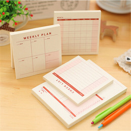 Wholesale Schedule Book - Wholesale- Weekly Monthly Plan Tear Mini Notebook Check list Daily Memo Pad Message Note Work Schedule Desktop Scratch Pad Memos Book 7.33
