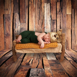 Wholesale wood photography props - Dark Wood Floor Backdrop Photography Digital Printed Baby Newborn Photo Shoot Wallpaper Props Wooden Plank Wall Backgrounds Vintage