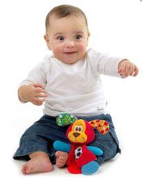 Wholesale- Baby Infant Soft Appease Toys Towel Playmate Calm Doll Teether Developmental Toy Lion Dog toys for newborns 0-12 months B852 cheap soft toys lion от Поставщики мягкие игрушки льва