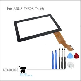 Wholesale Vivo Digitizer - Wholesale-10.1'' inch Original New Parts For ASUS Eee Pad Vivo Tab RT TF600 TF600T Touch Screen Touch Panel Digitizer With Tools