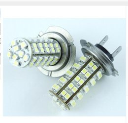 Wholesale Pure Headlight Bulbs - wholesale H7 102SMD 68SMD LED 3528 Car Auto Head Light Pure White Bulb Lamp 6000k DC 12V Driving Headlight DRL LED Lights wholesale