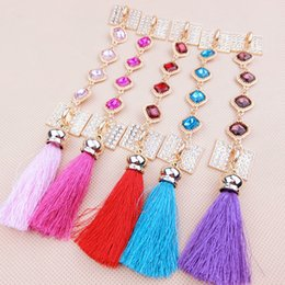 Wholesale Phone Jewel Cases - jewel Tassel Lanyard Mobile Phone Universal Neck Hanging of Alloy Material Paste Type Straps Phone case ornamentation diy jewelry accessory