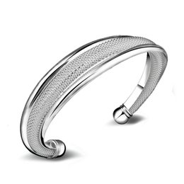 Wholesale High Quality Fashion Jewellery - Fashion Bangles for Women 925 Silver Bracelets Alloy Bangles Adjustable Opening Bracelets High Quality Fashion Jewellery