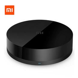 Controlador de casa inteligente online-Al por mayor-Original Xiaomi Mi Universal Controlador remoto inteligente 360 Degree WIFI + IR + RF Interruptor Electrodomésticos Smart Home Automation Black *
