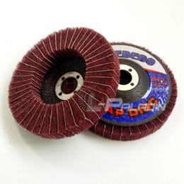 Wholesale Abrasive Wholesalers - 10 pieces 100*16mm Red Non-woven Flap Abrasive Disc Fibre Combi Finishing Wheel 320# Metal Polishing Disk