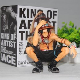 Wholesale ace good - 2017 hot sale 15cm One Piece Portgas D Ace Battle Ver. Fire Fist Ace PVC Action Figure Collection Model Anime Toy Free Shipping
