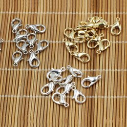 Wholesale lobster clasps wholesale - High Quality 300pcs Jewelry Findings Lobster Shape Clasps 12mm Lobster Clasps Hooks For Necklace Bracelet DIY Supplies Clips