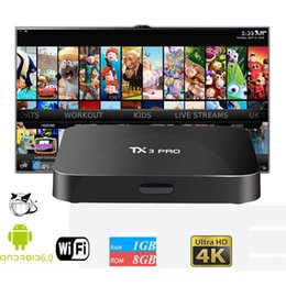 8gb wifi Promotion Original TX3 PRO Android TV Box Amlogic S905X Krypton Loaded WiFi Build 1 Go 8 Go Meilleur MXQ PRO