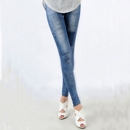 Wholesale Denim Jeans Skinny Girls - Wholesale- Wholesale Sexy Women's Girls Denim Jeans Skinny Stretch Pants Trousers Full Length Pencil Pants for Women Autumn Wear