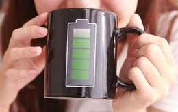 Wholesale Temperature Cup Battery - Battery Color Changing Mug Cup Amazing Ceramic Cup Temperature Changing cup 300ML 48pcs Free DHL Fedex