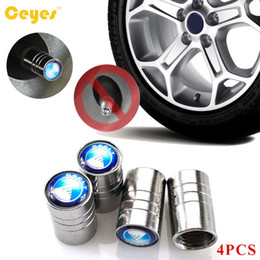 Wholesale Tyre Valves Steel - Car Wheel Tire Valves Tyre Stem Air Caps Cover Car Emblems For Geely x7 ec7 gc6 lc Stainless Steel Car Accessories Styling