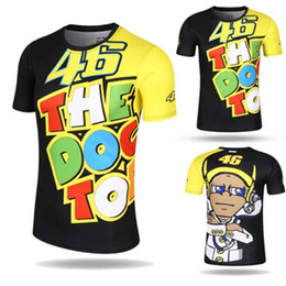Wholesale Bicycling T Shirts - Valentino Rossi VR46 46 Motocross Jerseys bike Cycling Racing Motorcycle Bicycle Motor QUICK-DRY Short Sleeve T-shirt