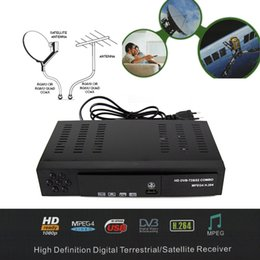 Wholesale Tuner Digital S2 - Wholesale- 2016 Sate1lite rece1ver Digital DVB T2+S2 TV Tuner Receivable MPEG4 DVB-T2 7V Receiver T2 Tuner Free Shipping Support bisskey