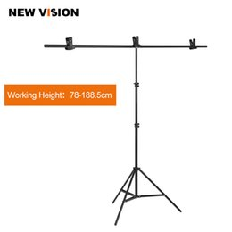 backdrop pvc Promo Codes - Wholesale- Photography Big PVC Backdrop Background Support Stand System Metal with 3 clamps Max 152cm X 200cm