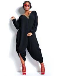 Wholesale Women Harem Jumpsuits Plus Size - Wholesale- Plus Size Sexy Women Summer Loose Chiffon Romper Baggy Harem Jumpsuit Playsuit