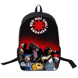 Wholesale Red Hot Chili Peppers - Wholesale- Rock Band Red Hot Chili Peppers   Slipknot   Slayer Backpack For Teenagers Girls School Bags Men Women Bag Street Rock Backpacks