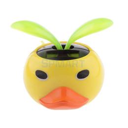 Wholesale Solar Power Flower Pot - Wholesale-Cute Solar Powered Duck Shape Flower Pot Flip Flap Leaf Dancing Toys Gifts