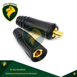 Wholesale extension mm - TIG Welding Machine Cable Quick Connector Pair DINSE-Style 100A-200Amp 10-25 SQ-MM Male Female Connector Fitting Earth Lead Extension Black