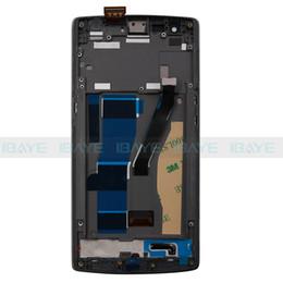 Oneplus uma tela lcd on-line-Atacado-Black Touch Digitizer Assembléia Assembléia Display LCD + Frame Para Oneplus One 1 + A0001 + Repair Set 100% de Trabalho