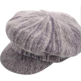 berretti donna all'ingrosso Sconti All'ingrosso- 2016 Moda berretto invernale più spesso cappello di berretto di velluto per donna berretto ottagonale berretto strillone cappelli da donna cabbie in lana