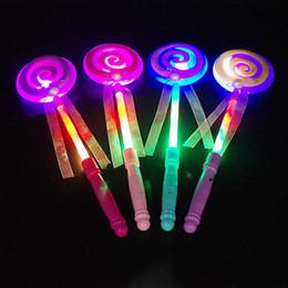 2019 palos de paletas 33 CM Lindo Lollipop Cintas LED Glowing Stick Flashing Light Kids Concierto Boda Fiesta de Cumpleaños Decoración ZA3718 rebajas palos de paletas