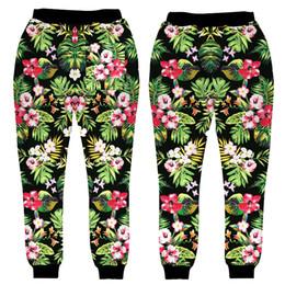 Wholesale women flower print pants - Wholesale-2016 New hip hop pants men women Floral sweatpants 3D print flower joggers pants sweat pants trousers clothing