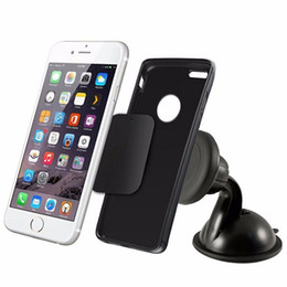 Wholesale Magnetic Black Ball - Wholesale- car Universal 360 Car Mount Ball Sticky Magnetic Stand Holder For Cell Phone GPS JA 6