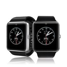 Reloj mp3 bluetooth resistente al agua online-Bluetooth Smart Watch SmartWatch Android Teléfono impermeable Tarjeta SIM Cámara MP3 Fitness Relojes inteligentes Mejor que DZ09