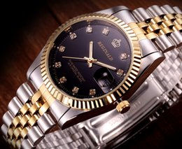 Wholesale Black Glass Tables - Wholesale gold diamond among men waterproof automatic mechanical watches classic business casual men's watches gift table