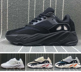 Wholesale Men Running Shoes Wave - 2018 newest Kanye West Runner 700 wave boost Sply White Core Black fashion Running sneaker sports shoes for men women size5 -11