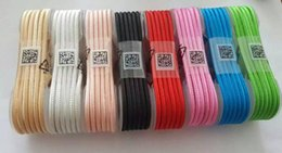 Wholesale Iphone Charging Wire - Newest 1.5M IP5 IP6 IP7 Micro USB V8 Aluminum Metal Nylon Braided Woven Data Cables Charger Charging Cable Wire Cords 10 Colors in sotck