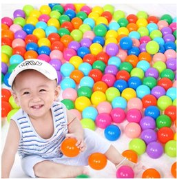 Wholesale Wholesale Pit Balls - 100pcs 5.5cm Ocean Ball Funny Colorful Ball for Baby Kids Soft Plastic Ocean Balls Children Toy Ball Swim Pits