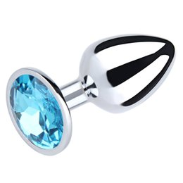 Wholesale Touch Anal - 100% Real Photo Small Size Metal Anal Toys Smooth Touch Butt Plug Stainless Steel Anal Plug Sex Toys Sex Products For Men