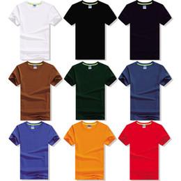 Wholesale Cotton Lycra Shirts Wholesale - High-grade blank solid color cotton lycra men straight round collar short sleeve T-shirt top half sleeve joker's coat