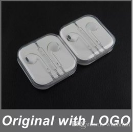Wholesale Ipad Headphones Volume Control - Super Quality Earbud Headphones Headphones Headphones Microphones and volume control Crystal case i 5 5c 5s 6 6s 7 Plus iPad