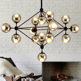 Wholesale Lamp Miller - Hot Pendent Lights Modern Glass Chandeliers Jason Miller MODO Chandelier Droplight (10 15 21-Heads) Living Room Pendant Lamp Light Lighting