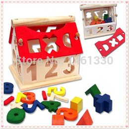 Wholesale 3d Wooden Puzzle House - Wholesale- Tangram Mini House wooden jigsaw puzzle educational toys for children scrabble wooden toy 3d jigsaw puzzle Wisdom House puzzle